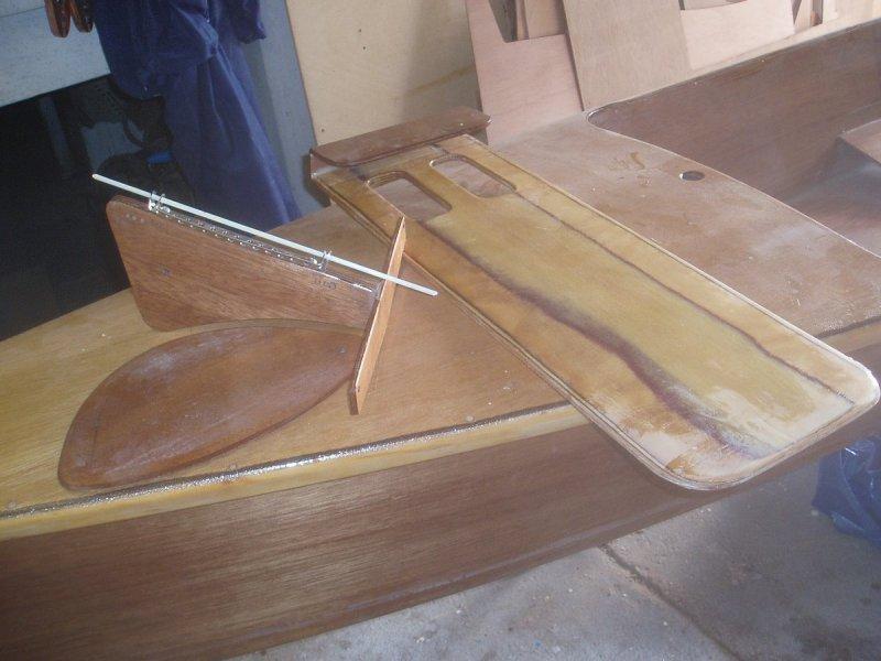 Leeboard, rudder & rudder box.JPG